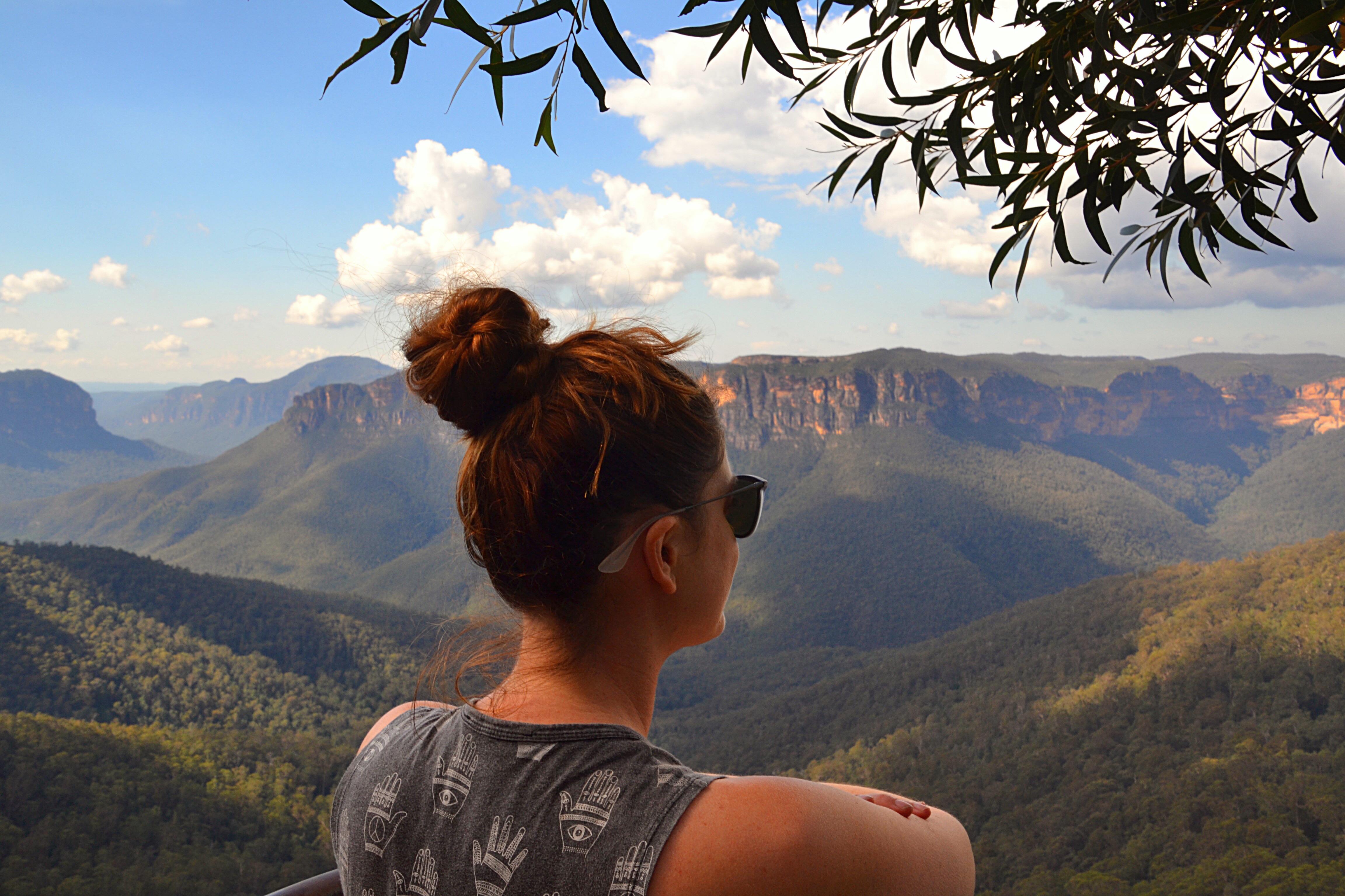 Hiking in the Blu Mountains Australia
