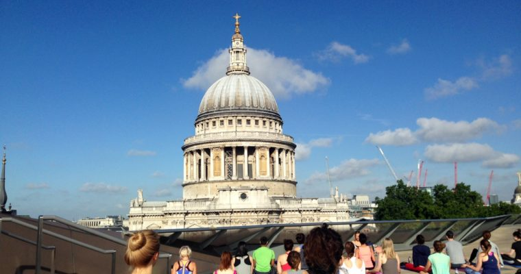 Free rooftop yoga class at St. Paul's