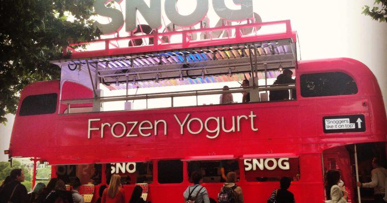 SNOG Bus pulls up on Southbank
