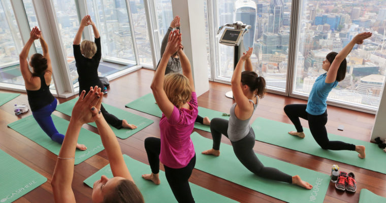 Yoga in the Clouds – at The View From The Shard
