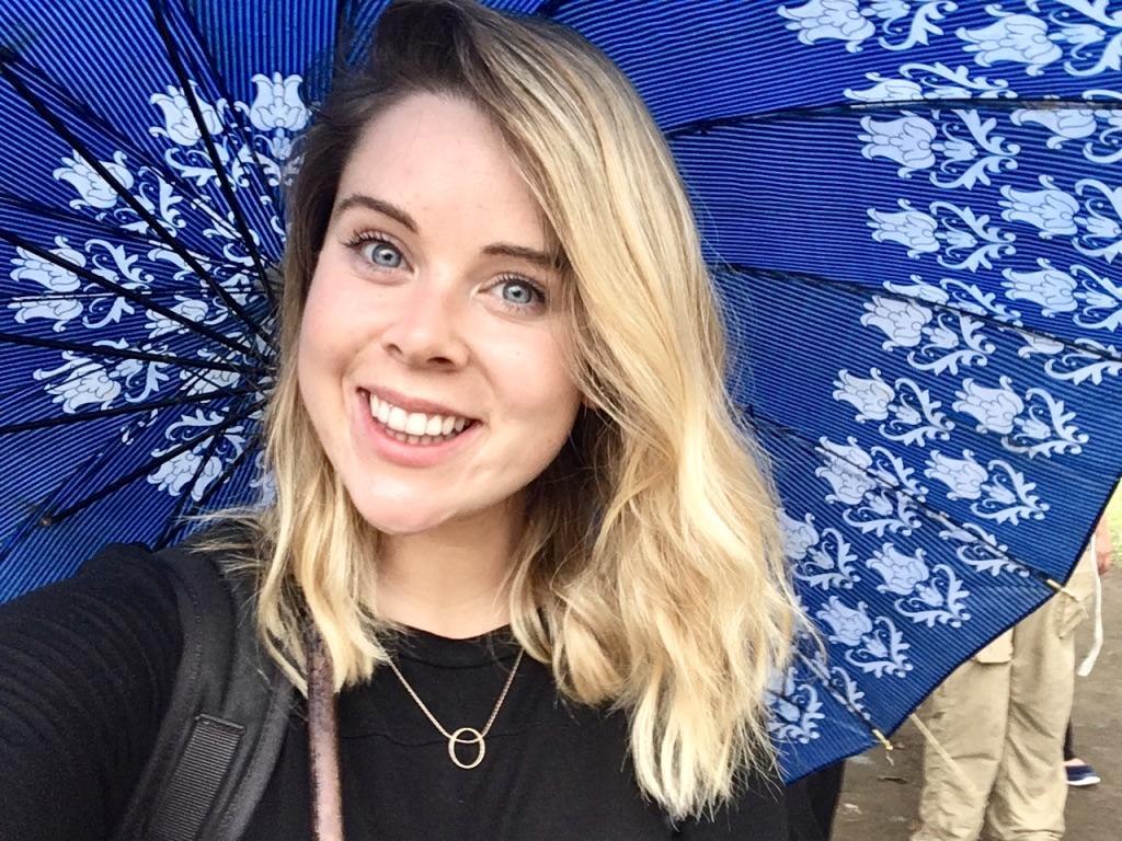 Travelling Wet Season Tips: Nikki with Umbrella